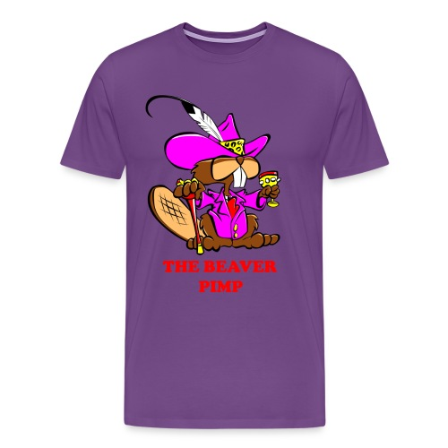 The Beaver Pimp (Men) - Men's Premium T-Shirt
