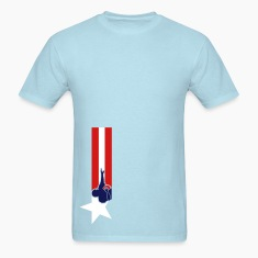 Sky blue american_football_national_banner T-Shirts (Short sleeve)