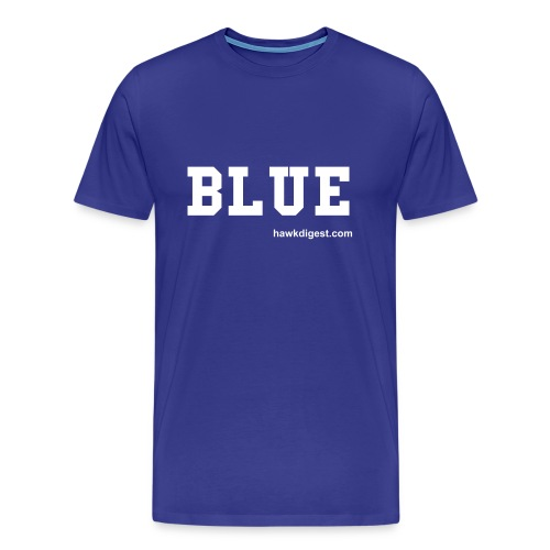 Blue Football Shirt - Men's Premium T-Shirt