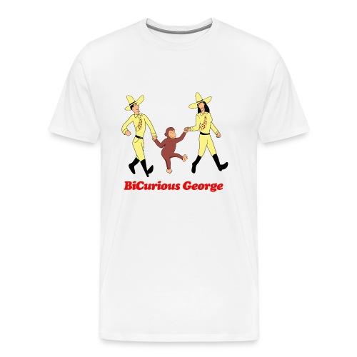 BiCurious George - Men's Premium T-Shirt