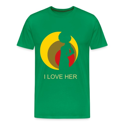 I LOVE HER T - Men's Premium T-Shirt