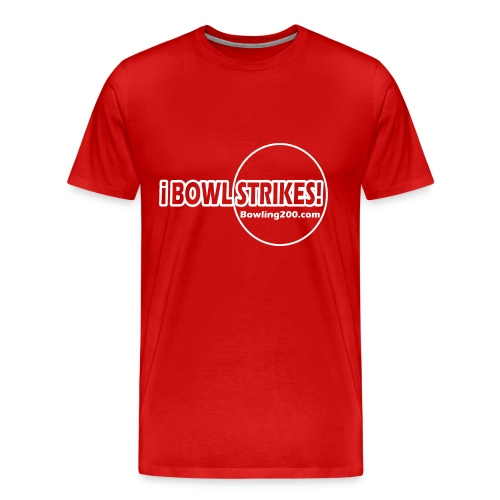 iBOWLSTRIKES! Red T - Men's Premium T-Shirt