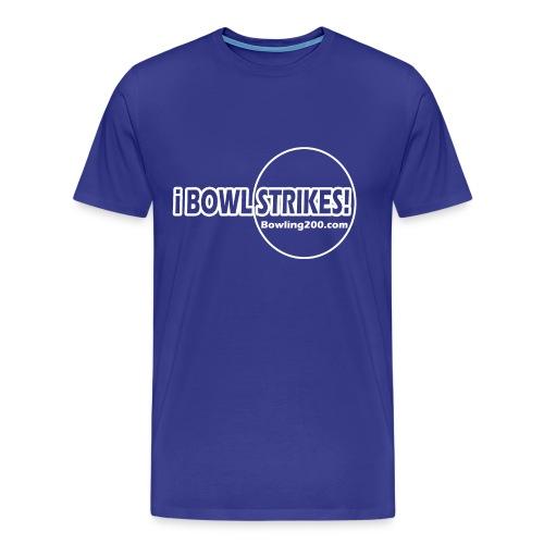 iBOWLSTRIKES! Royal T  - Men's Premium T-Shirt