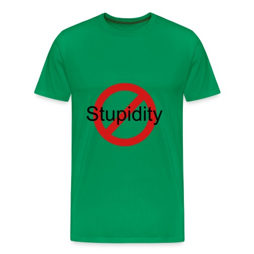 No Stupidity - Men's Premium T-Shirt