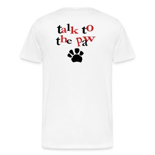 paw -purpple - Men's Premium T-Shirt