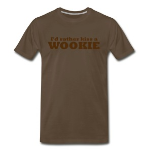 Kiss a Wookie - MHW - Men's Premium T-Shirt