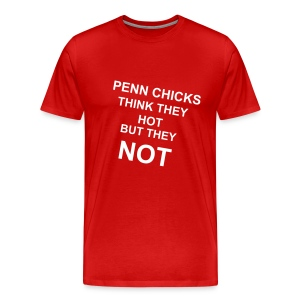 Not Hot T-Shirt (Red) - Men's Premium T-Shirt
