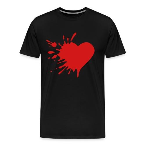 Broken Heart And Devil Wings - Men's Premium T-Shirt