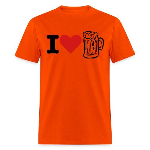 I heart Beer - Men's T-Shirt