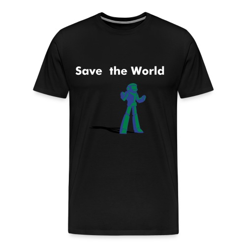 Save the World - Men's Premium T-Shirt