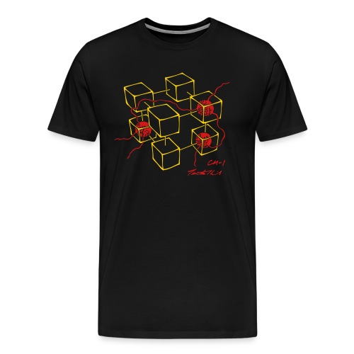 CM-1 men's black gold/red - Men's Premium T-Shirt