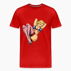 Red American Pinup T-Shirts (Short sleeve)