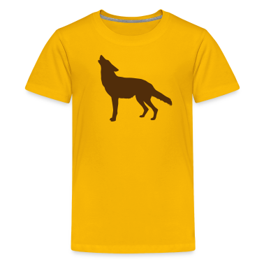 Yellow coyote howling Kids Shirts