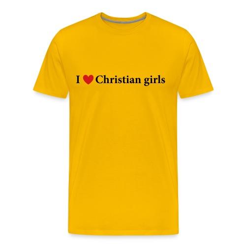I Love Christian Girls T-Shirt - Men's Premium T-Shirt