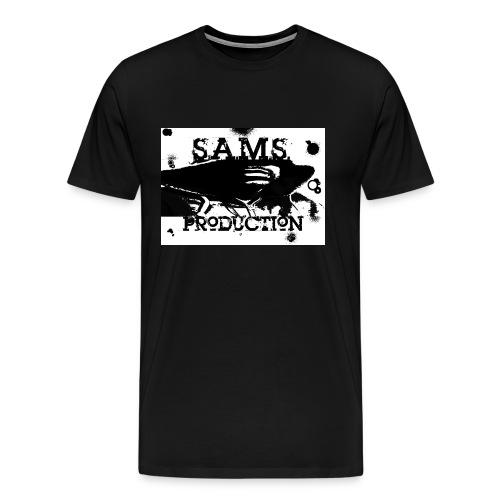 black and wihite sams face - Men's Premium T-Shirt