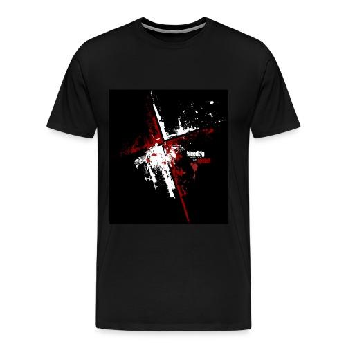 Red & White Cross Tee - Men's Premium T-Shirt