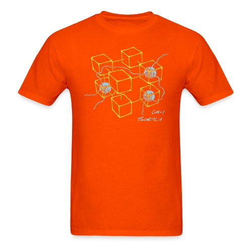CM-1 men's orange gold/blue - Men's T-Shirt