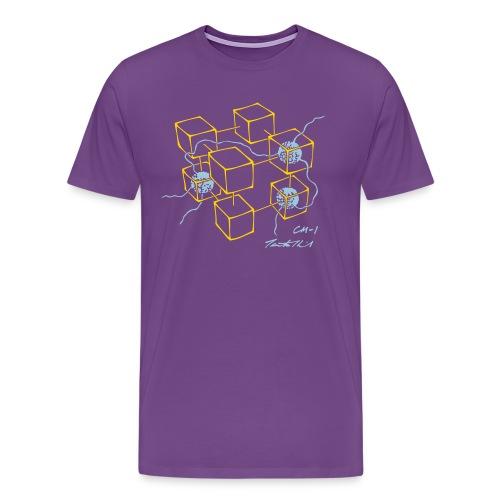 CM-1 men's purple gold/blue - Men's Premium T-Shirt