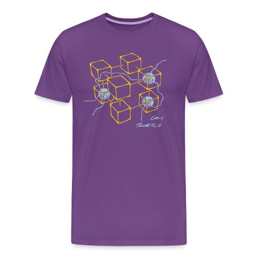 CM-1 men's purple gold/blue - Men's Premium T-Shirt