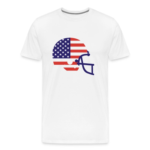 T-SHIRT Football Helmet AMFlag natural - Men's Premium T-Shirt