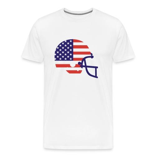T-SHIRT Football Helmet AMFlag natural - Men's Premium T-Shirt