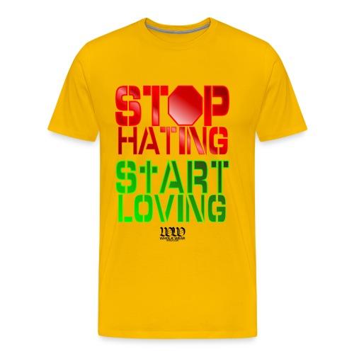 STOP HATING - Men's Premium T-Shirt