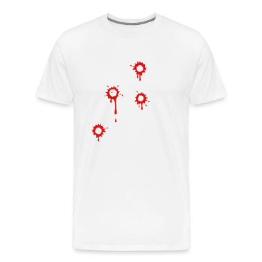 White ::GUNSHOT:: T-Shirts (Short sleeve)