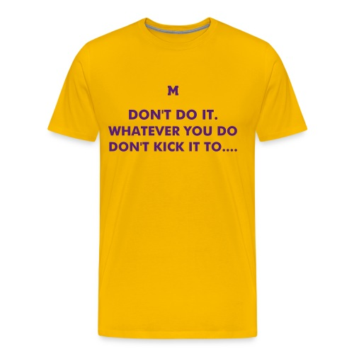 TD McGEE with big 19 on back (Click on Image to see the back) - Men's Premium T-Shirt