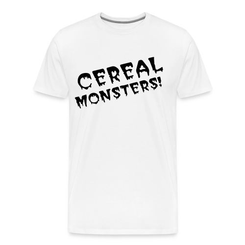 Cereal Monsters (blk/txt) - Men's Premium T-Shirt