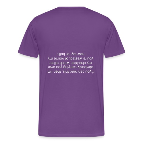 Over the shoulder - Men's Premium T-Shirt