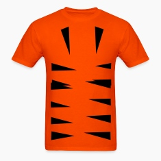Orange tiger stripes bottom T-Shirts (Short sleeve)