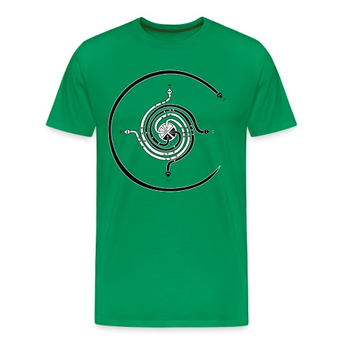 Navajo healing Snakes Spiral Cross Design - Men's Premium T-Shirt