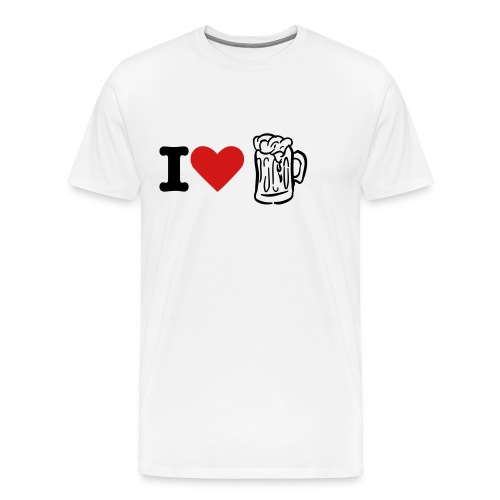 I LOVE BEER - Men's Premium T-Shirt