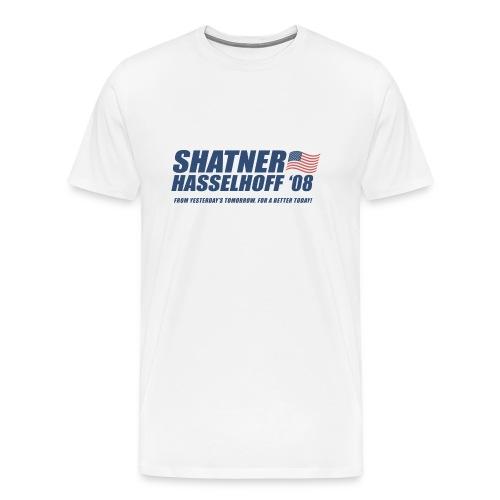 Shatner Hasselhoff '08 Campaign T - Men's Premium T-Shirt