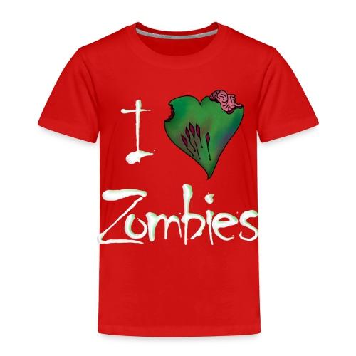 I Love Zombies Toddler Shirt - Toddler Premium T-Shirt