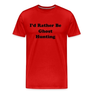 Men's 3X Lightweight Tee (I'd Rather Be...) - Red - Men's Premium T-Shirt