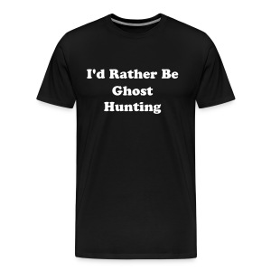 Men's 3X Lightweight Tee (I'd Rather Be...) - Black - Men's Premium T-Shirt