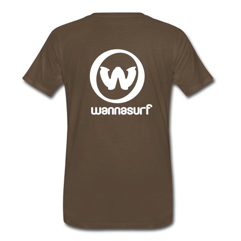 spreadshirtstickerwannasurffinal - Men's Premium T-Shirt