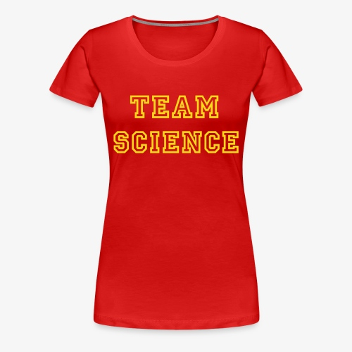 YellowIbis.com 'Varsity Evolution' Women's Plus Size T: Team Science (Color Choice) - Women's Premium T-Shirt