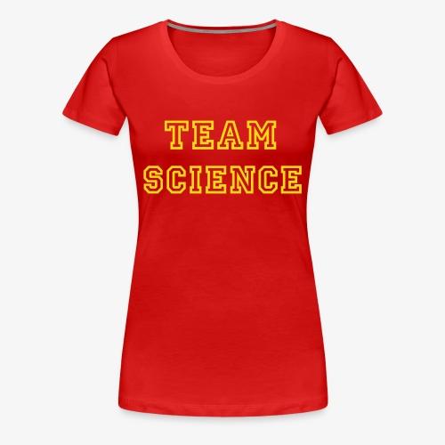 YellowIbis.com 'Varsity Evolution' Women's Plus Size T: Team Science (Color Choice) - Women's Premium T-Shirt