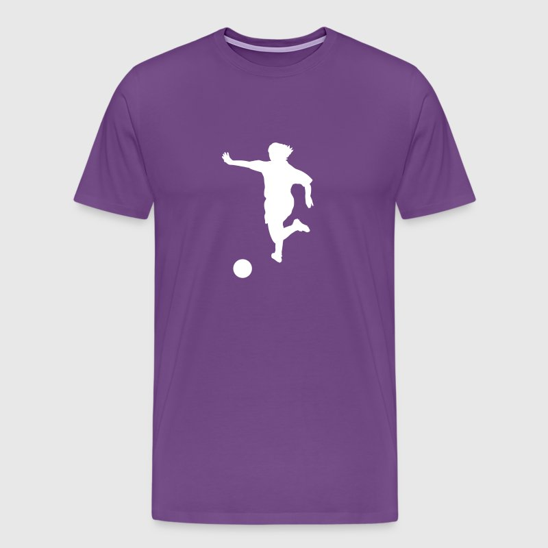 Purple soccer T-Shirts - Men's Premium T-Shirt
