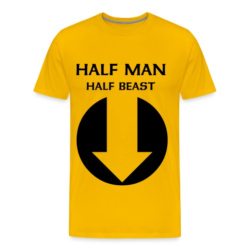 1/2 man 1/2 beast - Men's Premium T-Shirt