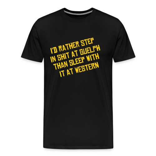 I'd Rather - Men's T - Black - Men's Premium T-Shirt