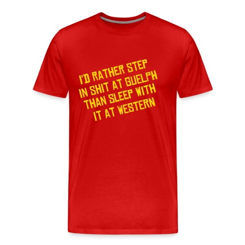 I'd Rather - Men's T - Red - Men's Premium T-Shirt