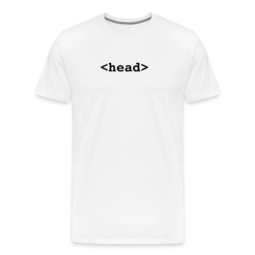 head-- html coding.  - Men's Premium T-Shirt