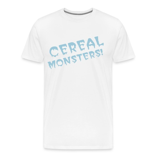 Cereal Monsters (pink/txt) - Men's Premium T-Shirt