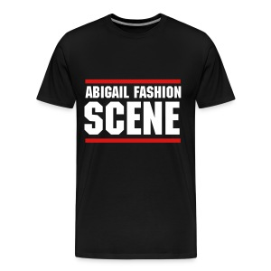Abigail Fashion Scene Stacked Logo - Men's Premium T-Shirt