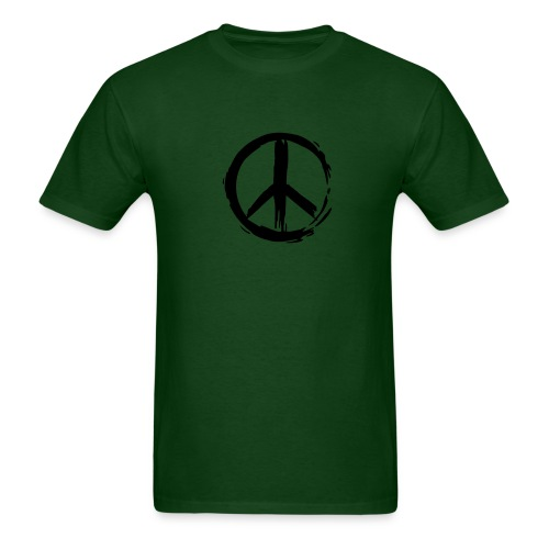 Painted Peace on Green - Men's T-Shirt
