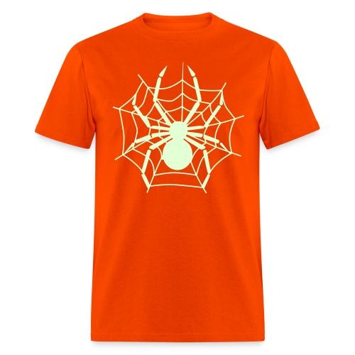 Spider w/ Web (GLOW in the DARK ) - Men's T-Shirt