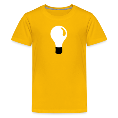 Yellow light bulb Kids Shirts